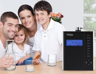 Family in home using a Chanson water ionizer